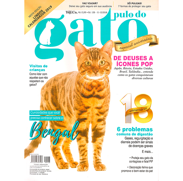 Play Bengal Tiger é capa da Revista Pulo do Gato - Novembro de 2018